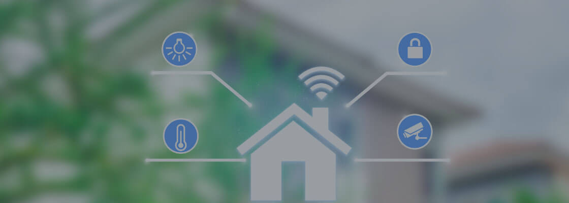 technical illustration of smart home technology